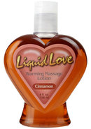 Liquid Love Warming Massage Lotion 4 Ounce Cinnamon