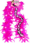 Flashing Party Feather Boa Pink 6 Foot