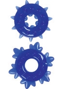 Renegade Spike Rings Blue 2 Each Per Set
