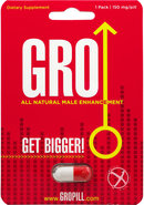 Gro All Natural Male Enhancement Pill 1 Each Per Pack