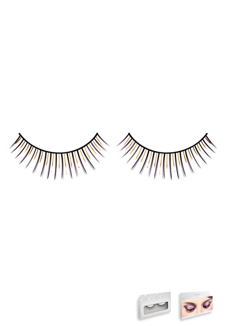 Black-yellow Deluxe Eyelashes