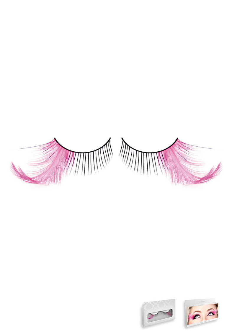 Black-purple Feather Eyelashes