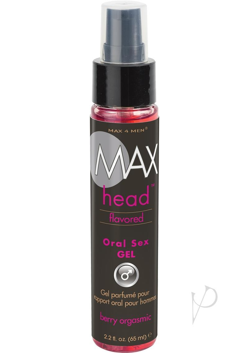 Max 4 Men Max Head Flavored Oral Sex Gel Berry Orgasmic 2.2 Ounce