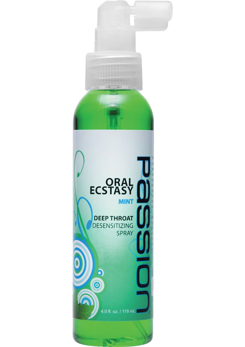 Passion Oral Ecstasy Deep Throat Desensitizing Spray Mint 4 Ounce